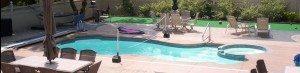 Family fun poolside