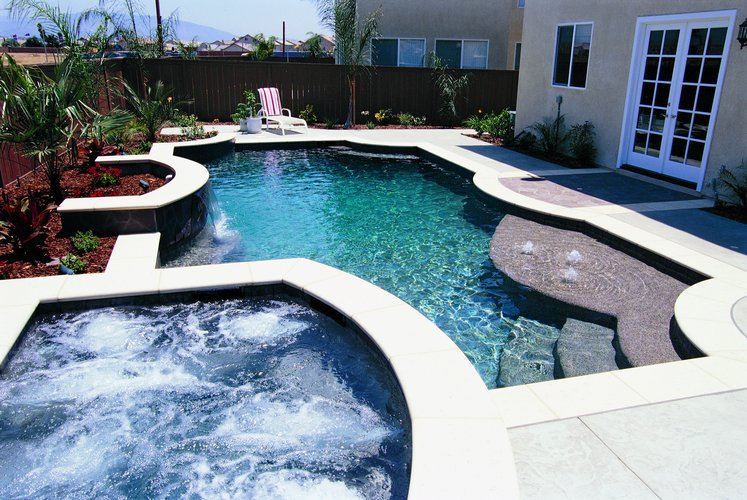 Concrete pool pictures best pool builder champaign for Top pool builders
