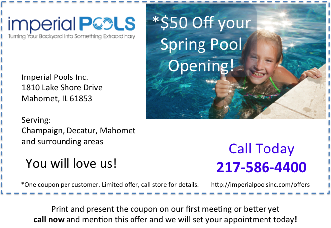 Save Money Spring Pool Opening Special