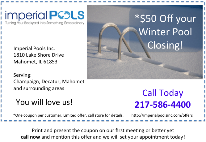 Save Money Winter Pool Closing Special
